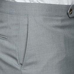 Sansabelt Men's Light Grey Flat Front Trousers