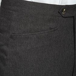 Sansabelt Men's Charcoal Gabardine Twill Trousers - Thumbnail 2