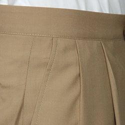 Sansabelt Men's Camel Pleated Wool Trousers - Thumbnail 2