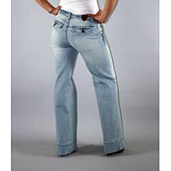 Institute Liberal Women's High Waist Light Wash Wide-leg Trousers - Thumbnail 2