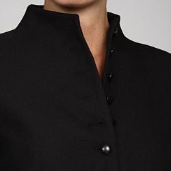 Emily Women's Black Nehru Collar Suit