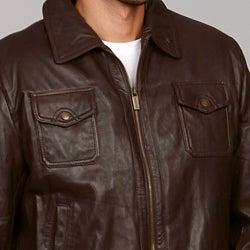 MICHAEL Michael Kors Men's Leather Jacket - Thumbnail 2