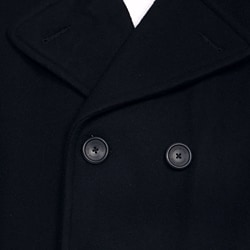 London Fog Men's Double-breasted Wool Blend Peacoat FINAL SALE - Thumbnail 2