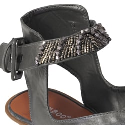 Bamboo by Journee Women's Beaded Strappy Sandals