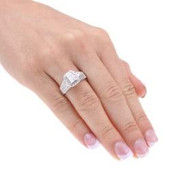 Unending Love 14k White Gold 1 1/2ct TDW Diamond Engagement Ring (H-I, I1-I2) - Thumbnail 2