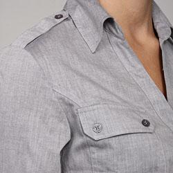 Ninety Women's Chambray Shirt - Thumbnail 2