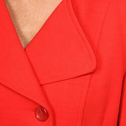 Katherine Barclay Women's Red Peacoat - Thumbnail 2