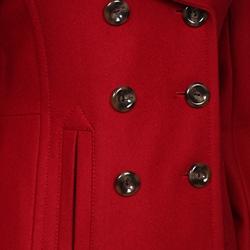 Nine West Women's Red Hooded Wool Coat - Thumbnail 2