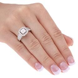 14k White Gold 1 1/2ct TDW Diamond Engagement Ring - Thumbnail 2
