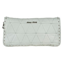 Miu Miu Convertible Quilted Leather Clutch - Thumbnail 2