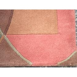 Indo Hand-Tufted Tibetan Multi-colored Wool Rug (2'6 x 8) - Thumbnail 2