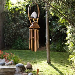 Bamboo 'Egg on Legs' Wind Chime (Indonesia) - Thumbnail 1
