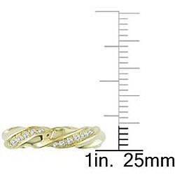 18k Yellow Gold 2/5ct TDW Diamond Fashion Ring (G-H, VS1-VS2) - Thumbnail 2