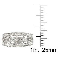 18k White Gold 5/8ct TDW Diamond Fashion Ring