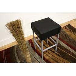 Modern Faux Leather Bar Stool by Baxton Studio - Thumbnail 2