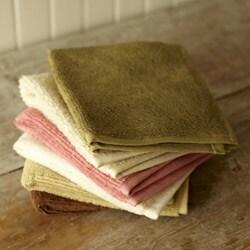 Set of 4 Organic Cotton Spa Face Towels (India) - Thumbnail 2