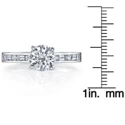 14k White Gold 3/4ct TDW Diamond Engagement Ring (H-I, SI1-SI2) - Thumbnail 2