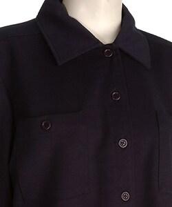 Liz Claiborne Villager Women's Navy L/S Buttoned Shirt - Thumbnail 2
