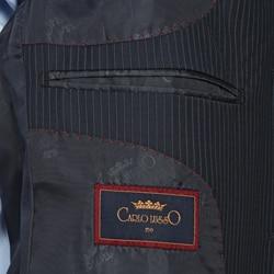 Men's Navy Blue Stripe 3-button Suit