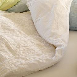 Seabury Voile Cotton Full/ Queen-size 3-piece Duvet Cover Set - Thumbnail 2