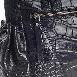Michael Rome Croco-embossed Leather Tote - Thumbnail 2