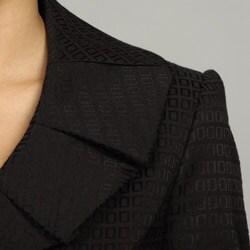 Tahari ASL Women's Black Jacquard Skirt Suit - Thumbnail 2