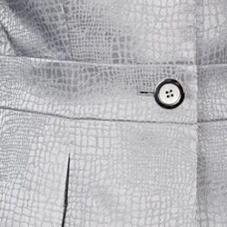 Tahari ASL Women's Silver Embossed Skirt Suit - Thumbnail 2