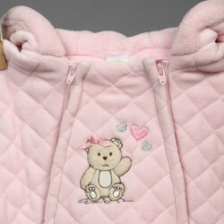 Little Me Newborn Girl's Quilted Velour Pram - Thumbnail 2