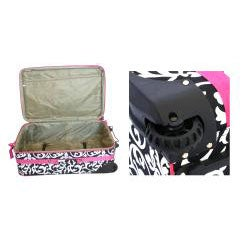 World Traveler 3-piece Damask Expandable Luggage Set - Thumbnail 2