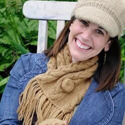 Jordan Cableknit Crossover Wool Scarf (Nepal) - Thumbnail 2
