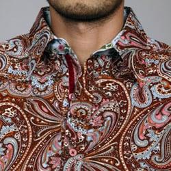 English Laundry by John Lennon Men's Paisley Woven Shirt