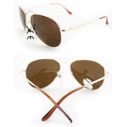 Women's 387 Gold Aviator Sunglasses - Thumbnail 2