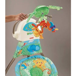 Fisher-Price Rainforest Open Top Cradle Swing - Thumbnail 2