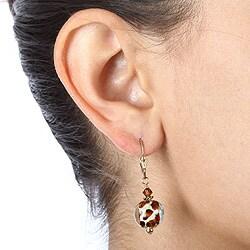 Goldfill Art Glass Animal Print Earrings