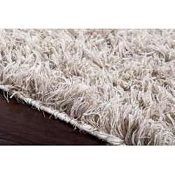 Hand-woven Houdini Beige Wool Rug (8'x10') - Thumbnail 2