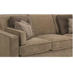 Tuscany Camel Fabric Velvet Sofa and Loveseat - Thumbnail 2