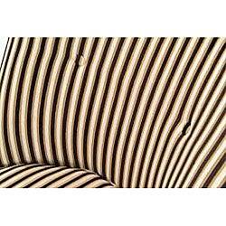 Thumbnail 3, Retro Tuxedo Stripe Club Chair. Changes active main hero.