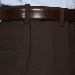 Austin Reed Men's Brown Flat Front Dress Pants - Thumbnail 2
