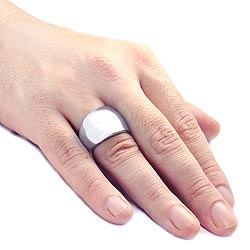 West Coast Jewelry Stainless Steel Wide Band Ring - Thumbnail 2