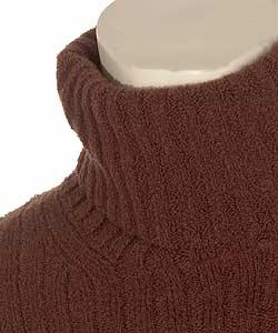 Shop Dolce Gabbana Mens Brown Turtleneck Sweater Free Shipping