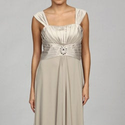 Jessica Howard Women's Tucked Bodice Dress with Bolero Jacket - Thumbnail 2