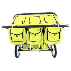 Shop Bebelove Green Triple Jogging Stroller Free Shipping Today