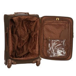 London Fog Olive Oxford Spinner 2-piece Luggage Set
