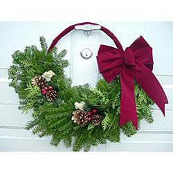 Fresh 24-inch Balsam Crescent Wreath