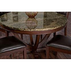solid marble dining table free shipping today 13195360. Black Bedroom Furniture Sets. Home Design Ideas
