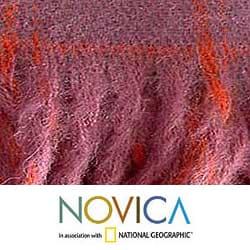 'Cozy Purple' Alpaca Wool Throw Blanket (Peru) - Thumbnail 2