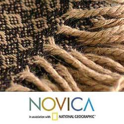 Handmade 'Cocoa and Cream' Alpaca Wool Throw (Peru)