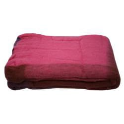 Mohair Blend Fuchsia Throw (India) - Thumbnail 2