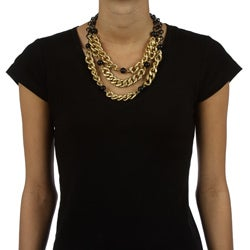 Kenneth Cole Goldtone Layered Chain Necklace - Thumbnail 2