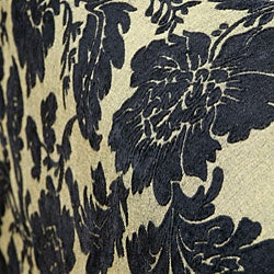 Victoria Black Floral Chenille Bedspread - Thumbnail 2